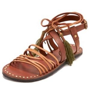 Free People Willow Gladiator Lace-up Sandal in tan